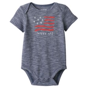 "Baby Boy Jumping Beans® ""Happy 4th"" Americana Bodysuit"