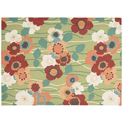 Waverly Sun N' Shade Pick A Poppy Floral Indoor Outdoor Rug - 10' x 13'