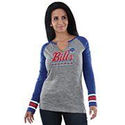 Women's Majestic Buffalo Bills Lead Play Tee