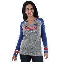 Women's Majestic New York Giants Lead Play Tee