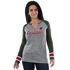 Women's Majestic Arizona Cardinals Lead Play Tee