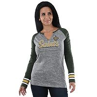 Women's Majestic New Orleans Saints Lead Play Tee