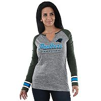 Women's Majestic Carolina Panthers Lead Play Tee