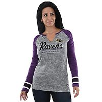 Women's Majestic Baltimore Ravens Lead Play Tee