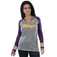 Women's Majestic Minnesota Vikings Lead Play Tee