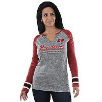 Women's Majestic Tampa Bay Buccaneers Lead Play Tee