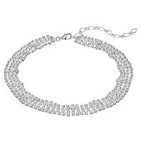 Multi Strand Cup Chain Choker Necklace