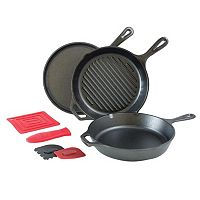 Lodge Logic 7 pc Cast-Iron Essential Pan Set