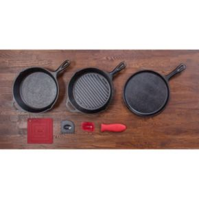 Lodge Logic 7-pc. Cast-Iron Essential Pan Set