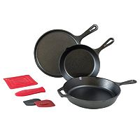 Lodge Logic 7 pc Cast-Iron Essential Skillet Set