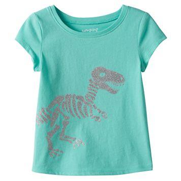 Toddler Girl Jumping Beans® T-Rex Glitter Graphic Tee