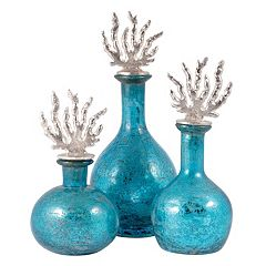 Pomeroy Reef Decorative Decanter 3-piece Set