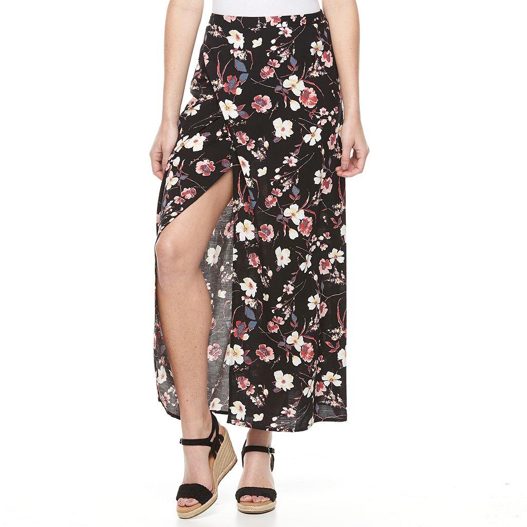 Women's Studio 253 Print Faux-Wrap Skirt
