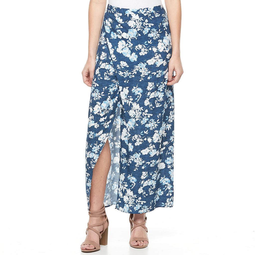 Women's Studio 253 Print Faux-Wrap Skirt