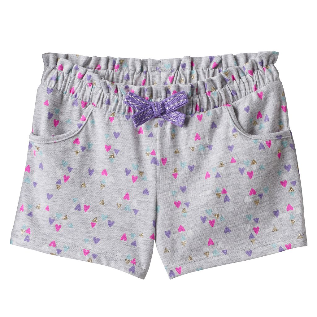 Toddler Girl Jumping Beans® Patterned Paper Bag Waist Shorts