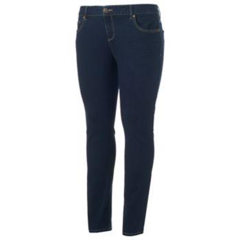 Juniors' Plus Size SO® Low Rise Skinny Jeans