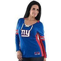 Women's Majestic New York Giants Winning Style Tee