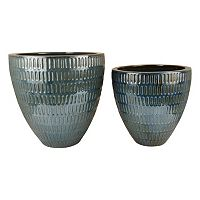 Pomeroy Malaya Decorative Ceramic Bowl 2 pc Set