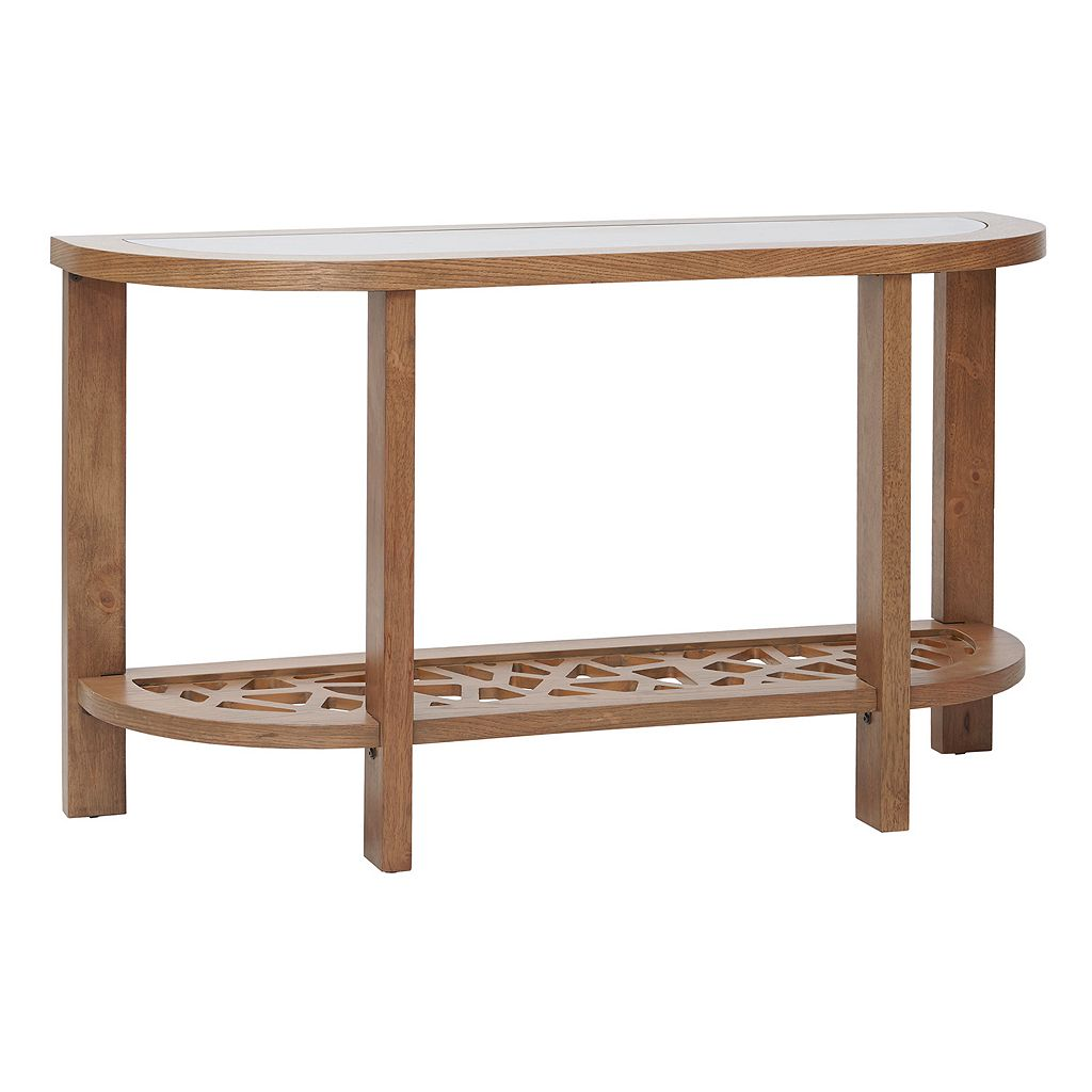 INK+IVY Crackle Console Table