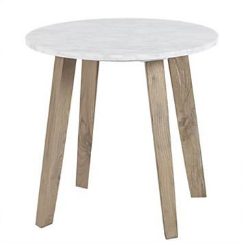 INK+IVY Milo Marble Finish End Table