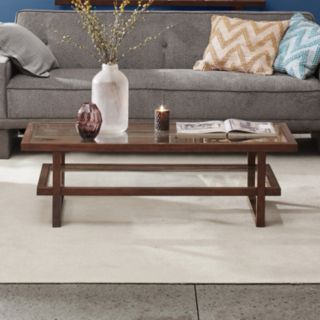 INK+IVY Metro Wood & Glass Coffee Table