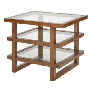 INK+IVY Metro Wood & Glass End Table