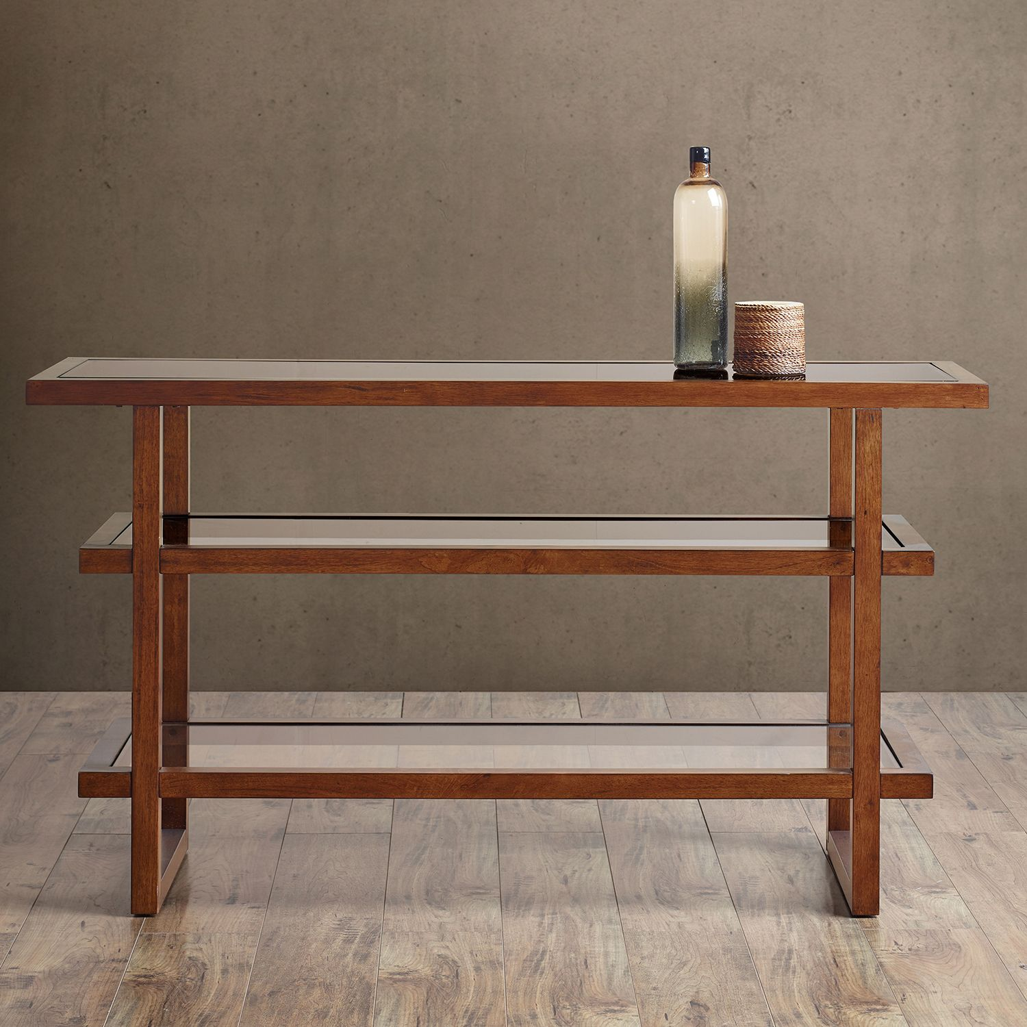 High Quality INK+IVY Metro Wood U0026 Glass Console Table