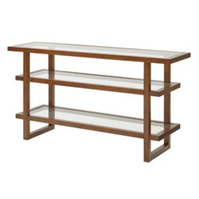 INK+IVY Metro Wood & Glass Console Table