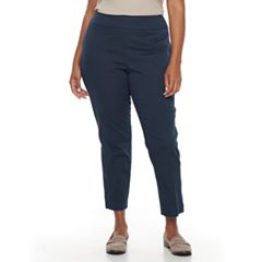 Plus Size Croft & Barrow® Stretch Pull-On Ankle Pants