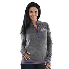 Women's Majestic Baltimore Ravens Play Action Pullover