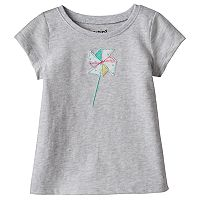 Baby Girl Jumping Beans® Embroidered Applique Tee