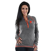 Women's Majestic Cleveland Browns Play Action Pullover