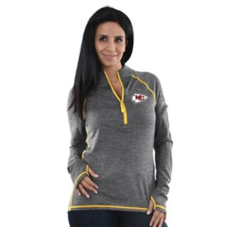 Women's Majestic Kansas City Chiefs Play Action Pullover