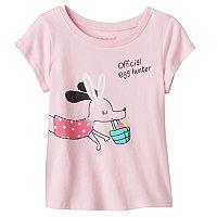 Baby Girl Jumping Beans® Short Sleeve Easter Glitter Graphic Tee