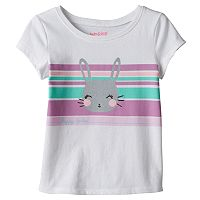 Baby Girl Jumping Beans® Short Sleeve Easter Glitter Graphic Tee