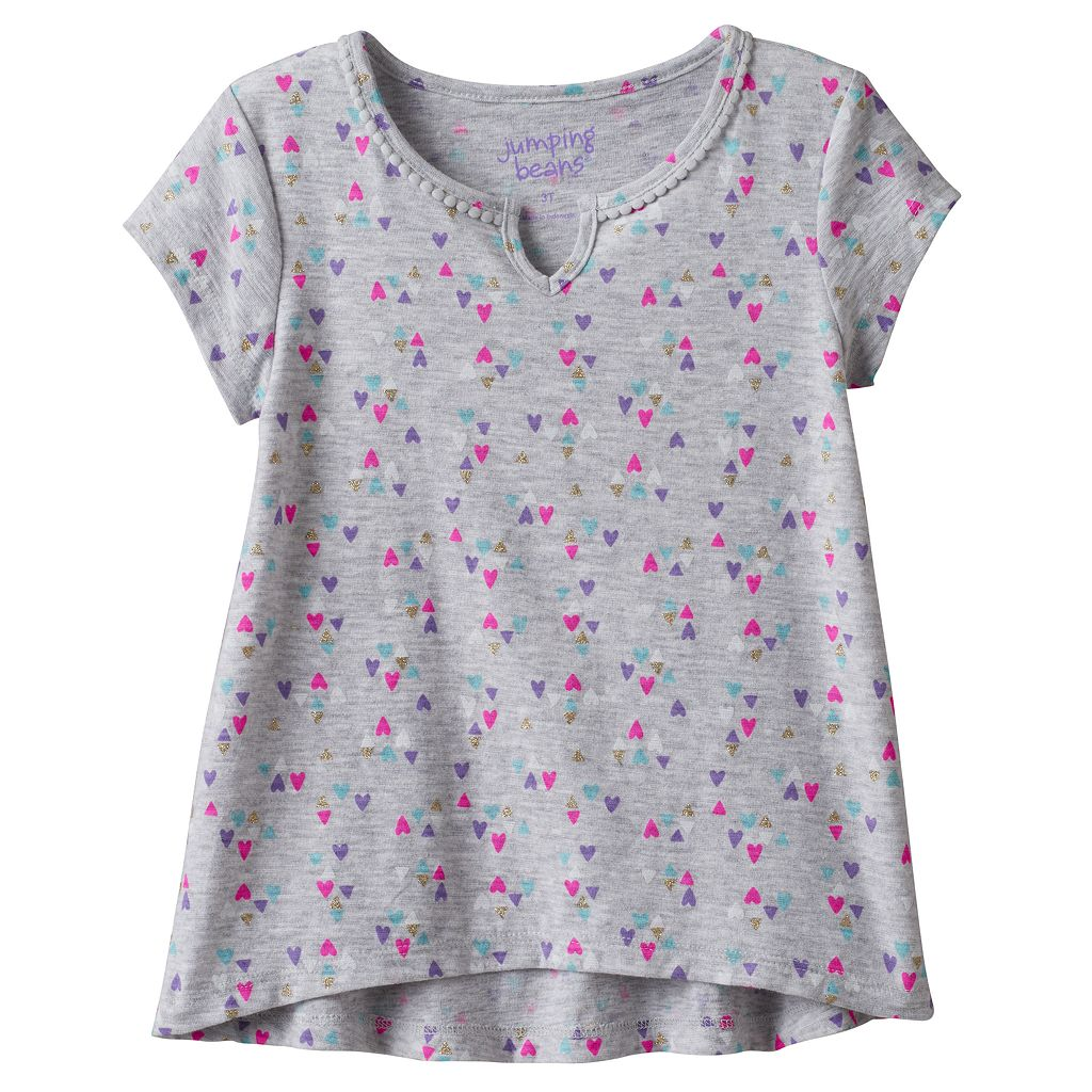 Toddler Girl Jumping Beans® Short Sleeve High-Low Tee