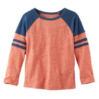 Toddler Boy Jumping Beans® Slubbed & Striped Raglan Long Sleeve Graphic Tee