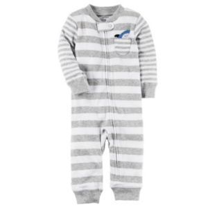 Baby Boy Carter's Striped Applique One-Piece Pajamas