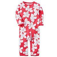 Baby Girl Carter's Print One-Piece Pajamas