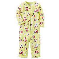 Baby Girl Carter's Picot-trim Print One-Piece Pajamas