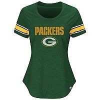 Women's Majestic Green Bay Packers Tailgate Tee
