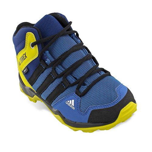 adidas Outdoor Terrex AX2R Mid Climaproof Boys  Waterproof Hiking Shoes f0b81a0b22f