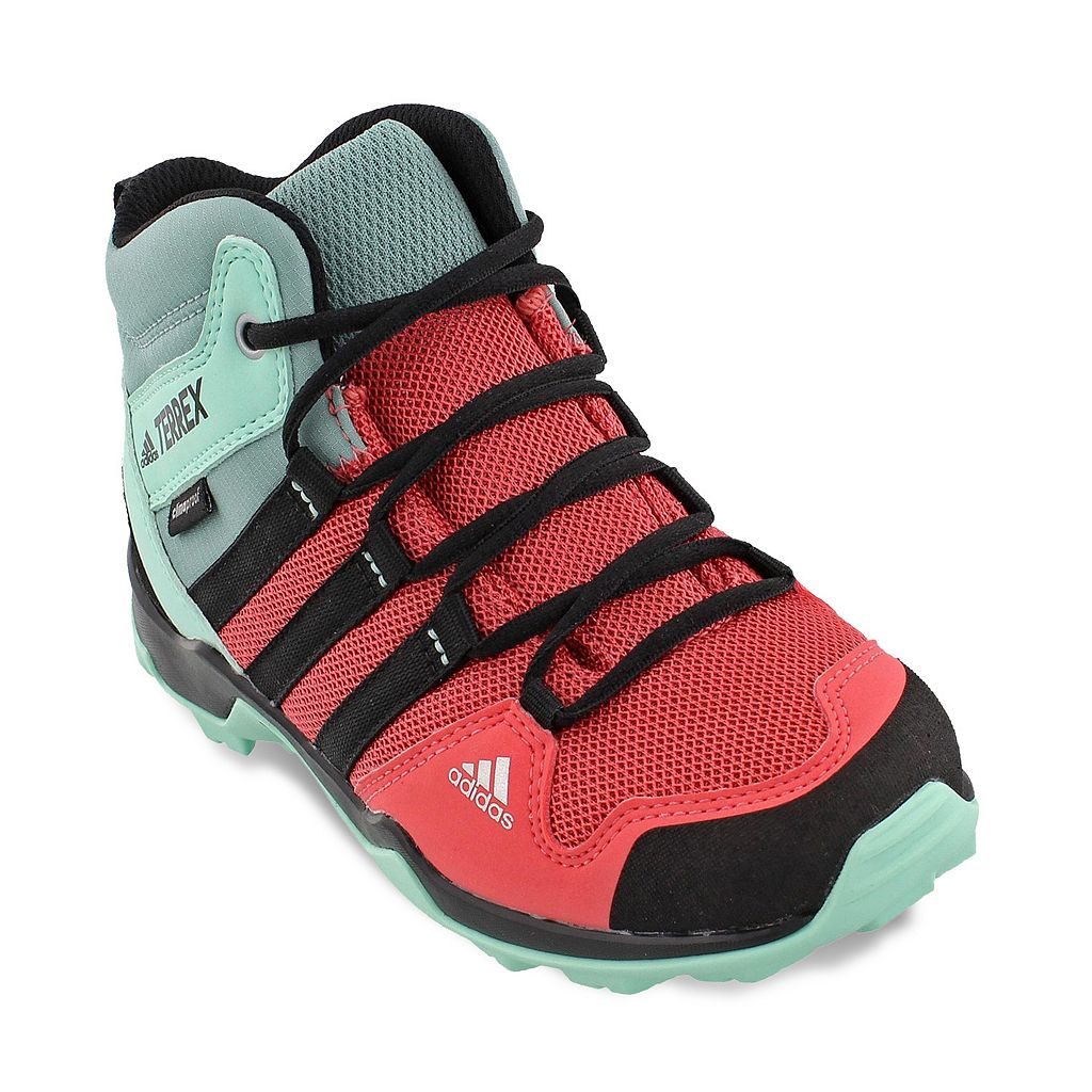 adidas Outdoor Terrex AX2R Mid Climaproof Girls' Waterproof Hiking Shoes