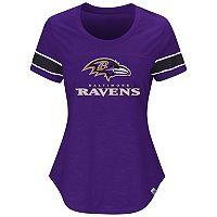 Women's Majestic Baltimore Ravens Tailgate Tee