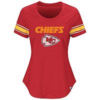 Women's Majestic Kansas City Chiefs Tailgate Tee