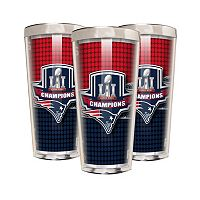 New England Patriots Super Bowl LI Champions 3-Piece Shot Glass Set