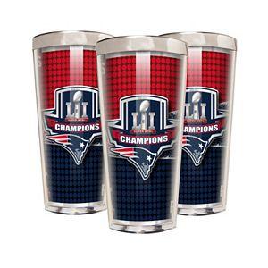 New EnglandPatriots Super Bowl LI Champions 3-Piece Shot Glass Set