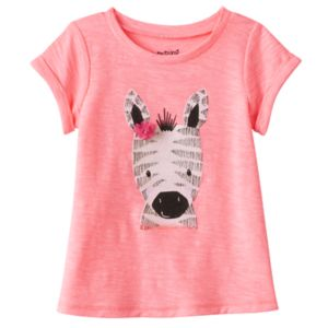 Baby Girl Jumping Beans® Graphic Slubbed Tee