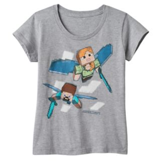 Girls 7-16 Minecraft Elytra Heroes Graphic Tee