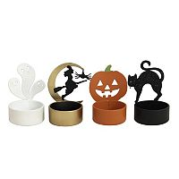 Celebrate Halloween Together Tealight Candle Holder 4-piece Set